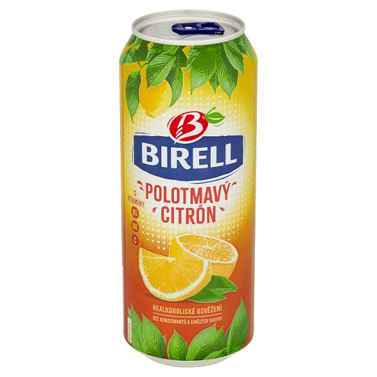 Birell polotmavý citrón 500 ml