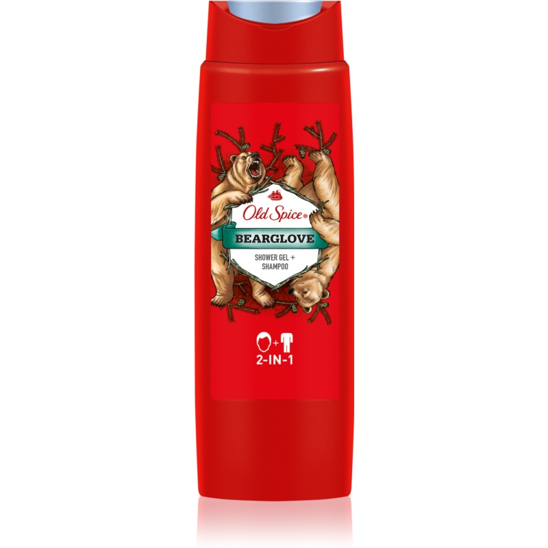 Sprchový gel + šampon Old spice Bearglove 2v1 400ml